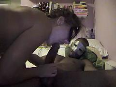 Masked white girl takes a big black cock in the ass