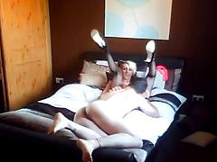 Shemales On Hidden Cam Fucking And Sucking On Hte Bed