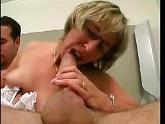 Sexy French Granny Loves Sucking And Fucking Big Cock
