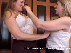 Mature Lesbians In Skirts And Panties Go To Town
