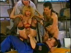 Older Blonde Takes A Fist In Her Pussy And Her Ass
