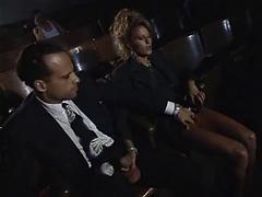 Sexy Blonde Lady Sucks And Fucks At The Movies