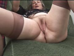 Horny Chunky Granny Enjoys Masturbating And Cumming