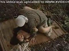 Nice Looking Asian Woman Gets Fucked In The Nature