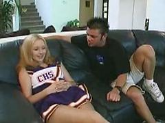 Cheerleader Takes A Drive Home And Shags Her Driver