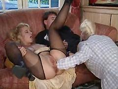 Blond Whore Sucks Cock And Gets Her Pussy Fisted