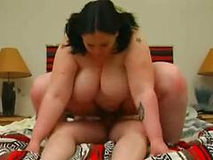 Bbw Cowgirl Enjoys Herself Getting Fucked
