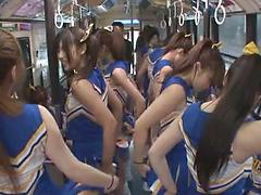 Cheerleaders Are Rubbed And Felt Up On A Moving Train