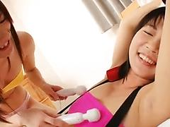 Asian Lesbian Gets Tied Up And Eaten Out