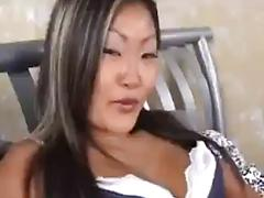 Horny asian slut gets fucked