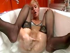 Blonde fingering pussy ass asshole anal tits