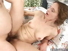 Splendid and insatiable milf pulverize with her spouse at home  !