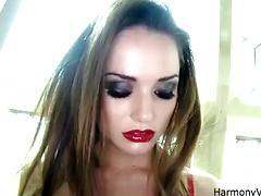 Bitchy girl Tori Black gets her anal and pussy banged in a DP style