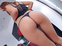Tattooed slut with fuckable ass gets orgasm of intense bang