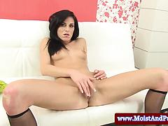 Jessica Black Gets Sensual With Her Own Tight Pussy