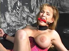 Tanya Danielle chained and machine fucked
